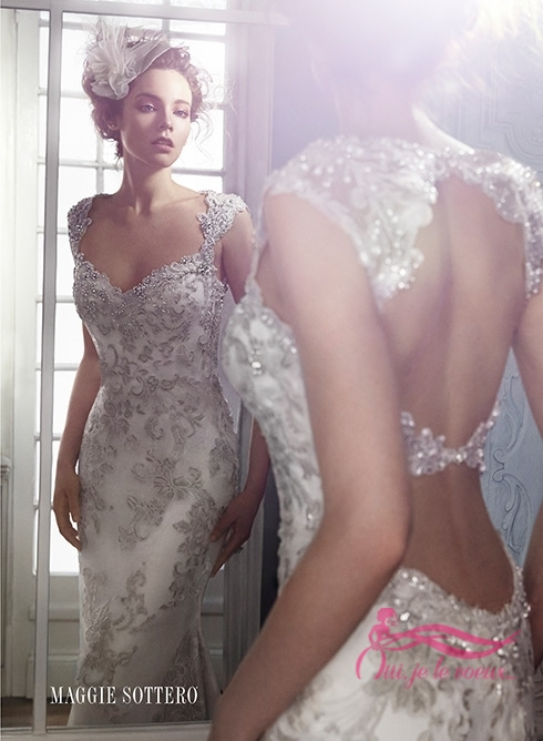 Wedding dress Embroidered Lace, Jade Maggie