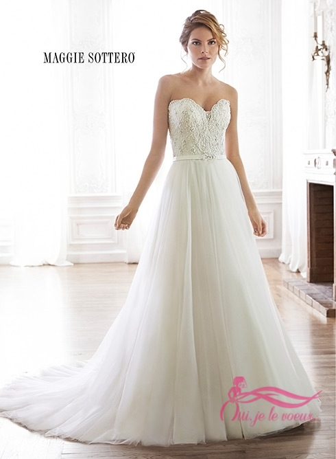 Wedding dress Lace, Tulle, Enza