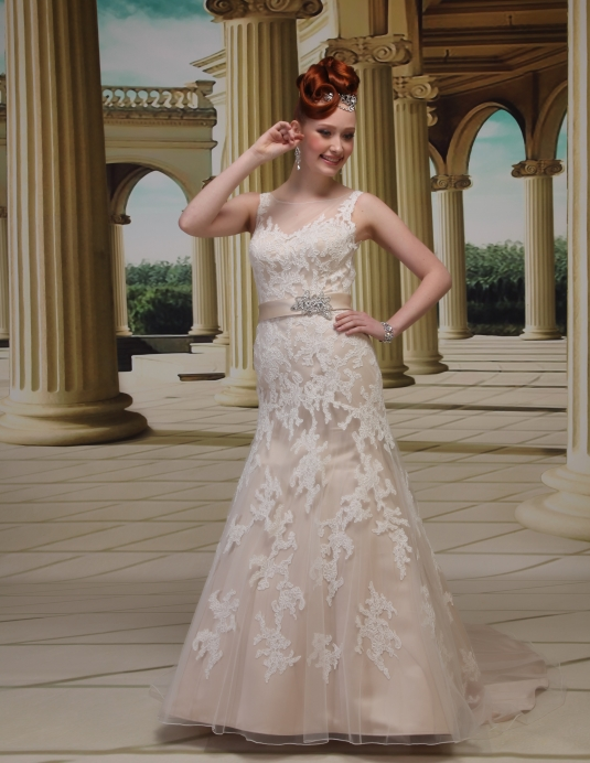 Wedding dress Satin, Lace, Emy