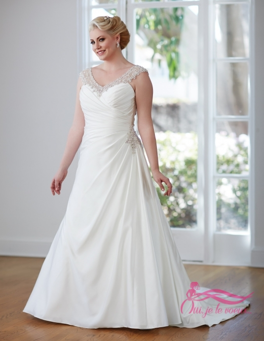 Wedding dress Satin, Lace, Tulle, Noranda