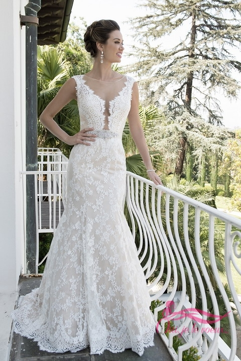 Wedding dress Lace, Satin, Alyster