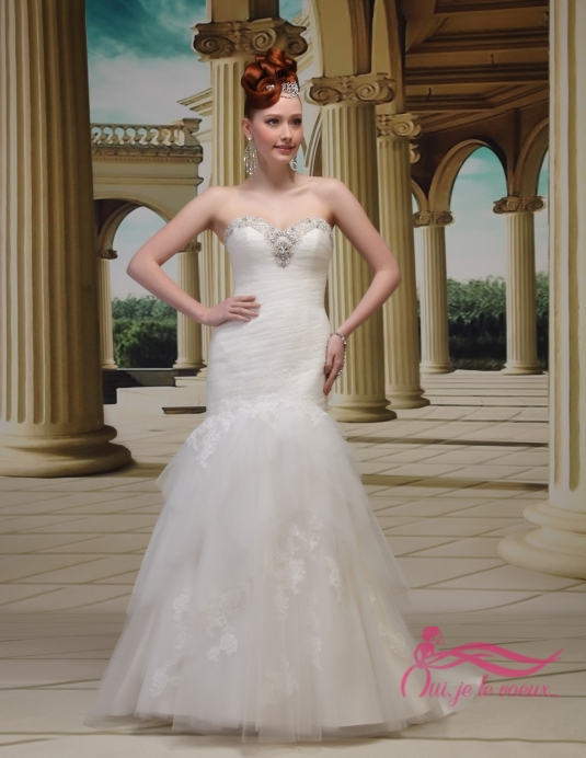 Wedding dress Tulle, Lace appliquées, Chaterley