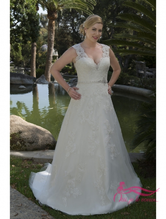 Wedding dress Tulle, Lace appliquées, Florrie