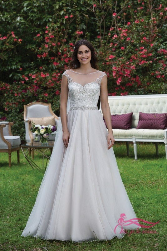 Wedding dress Satin and Tulle, Coralie