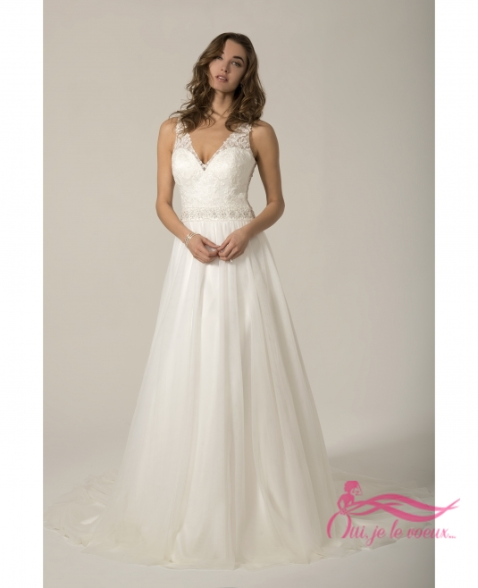 Wedding dress Tulle, Lace appliquées, Aralie