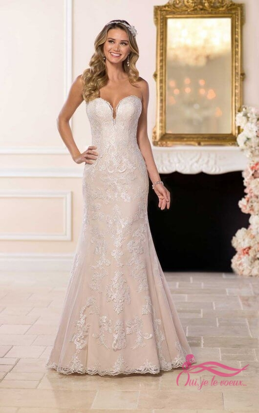 Wedding dress Tulle, Embroidered Lace, Ashley