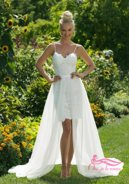 Wedding dress Tulle, Lace, Poulette
