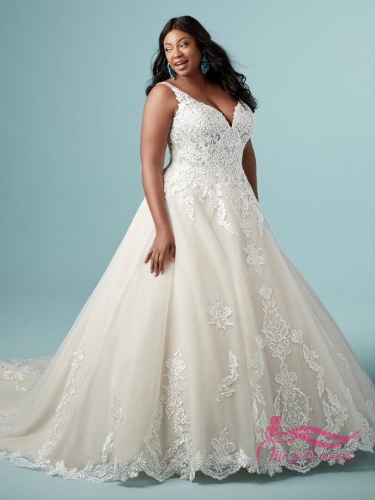 Wedding dress Tulle, Lace appliquées, Trinity Lynette