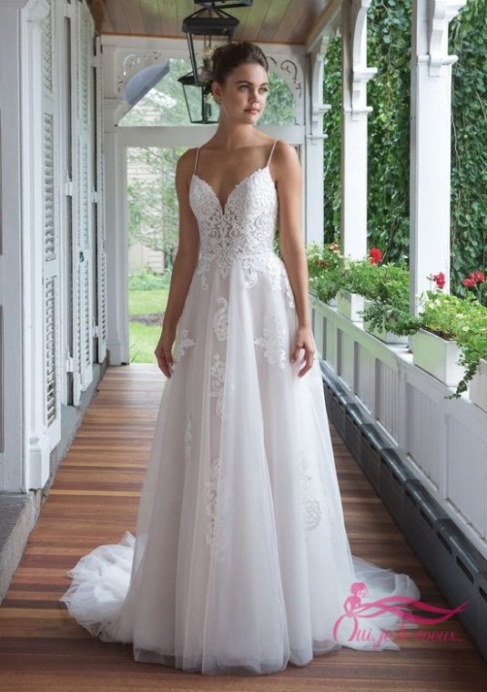 Wedding dress Tulle, Lace, Isabella