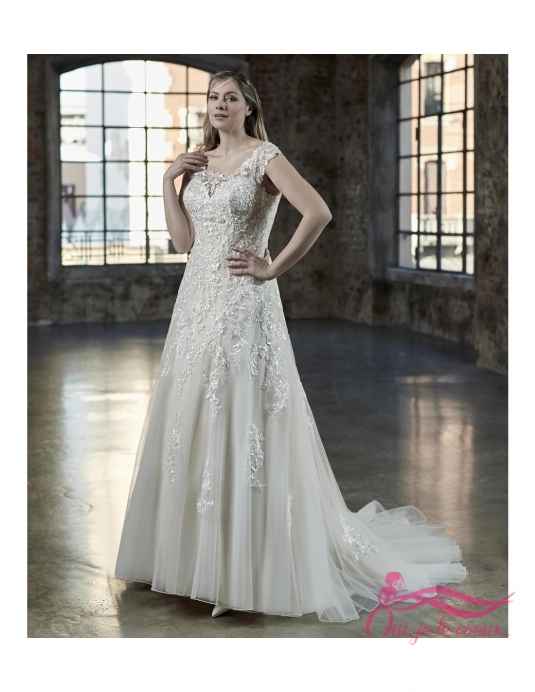 Wedding dress Tulle, Lace, Unik