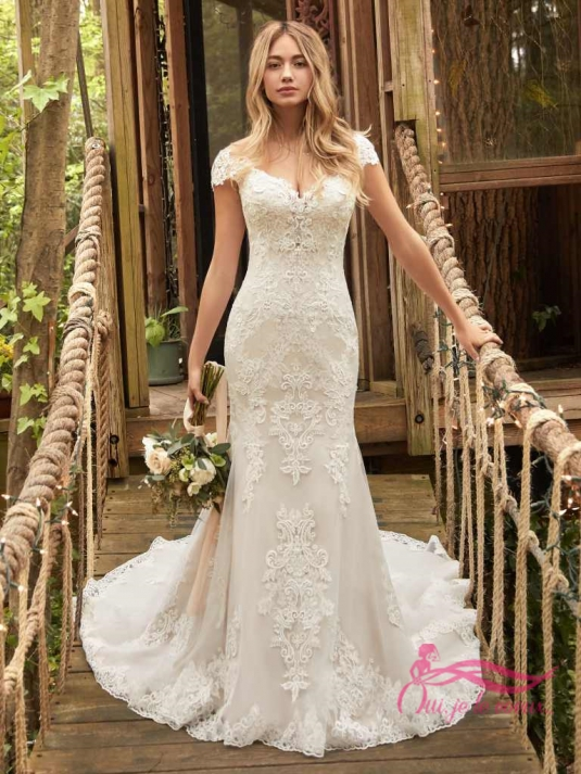 Wedding dress Tulle, Lace, Daphne