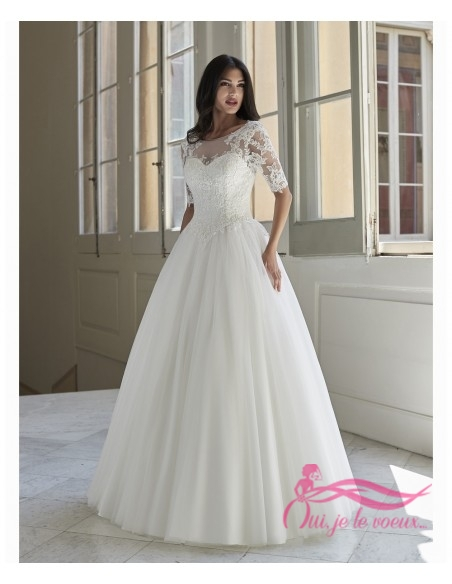 Wedding dress Tulle, Lace, Inia