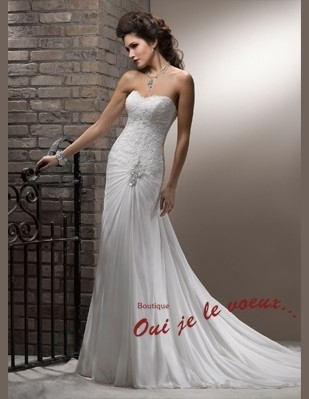 Wedding dress Chiffon, Corded Lace, Mayla
