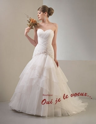 Wedding dress Imperial Satin, Organza, Finika