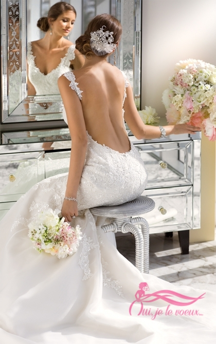 Wedding dress Dentelle et Organza, Dulce
